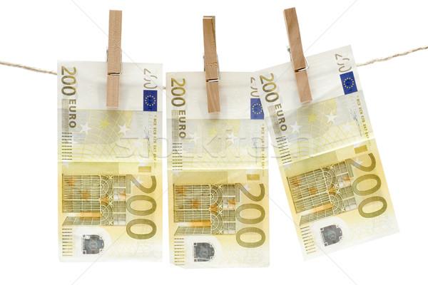 Drying Two Hundred Euro Bills Stock photo © winterling