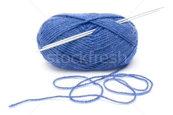 Сток-фото: синий · шерсти · хвоя · оборудование · изолированный