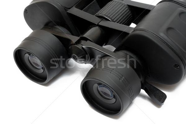 Binóculo preto isolado branco óculos Foto stock © winterling
