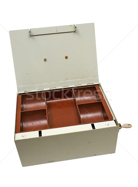 Cinza numerário caixa vazio Foto stock © winterling