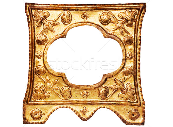Small Ornamented Golden Picture Frame with Clipping Path Stock photo © winterling