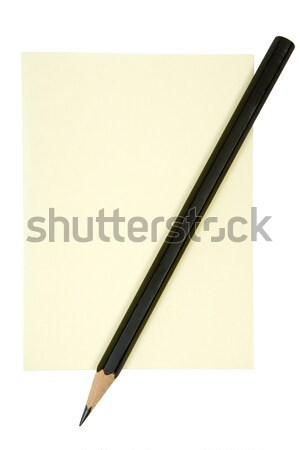 Pencil on Yellow Note Stock photo © winterling