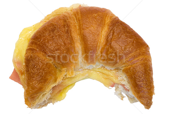 Ham and Cheese Croissant with Clipping Path Stock photo © winterling