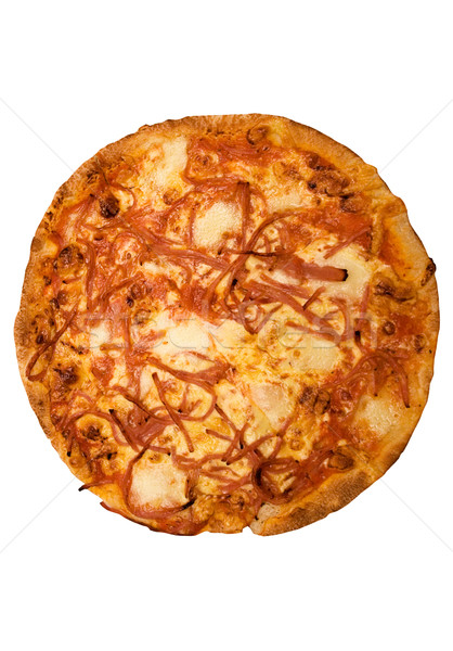 Pizza jambon fromages italien isolé Photo stock © winterling