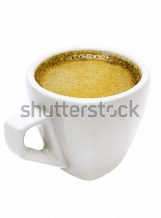 Foto stock: Branco · copo · café · expresso · pequeno · isolado