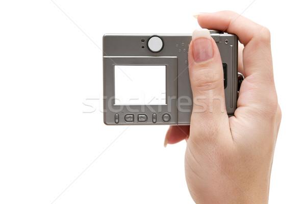 Holding a Small Digital Camera Stock photo © winterling