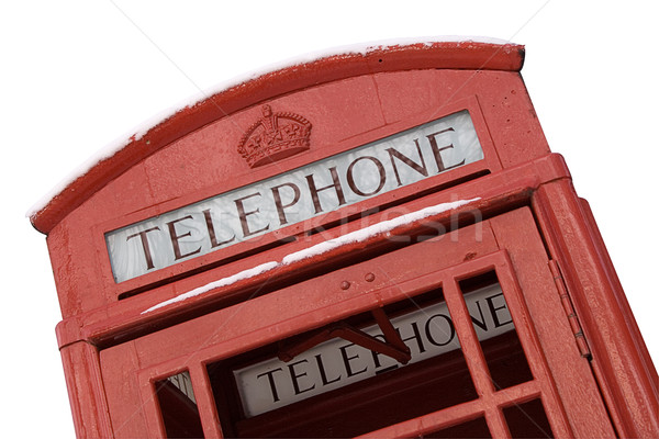 British Phone Box with Clipping Path Stock photo © winterling