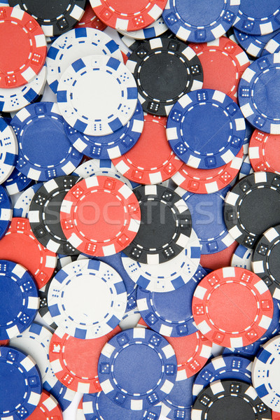 Poker Chips Background Stock photo © winterling