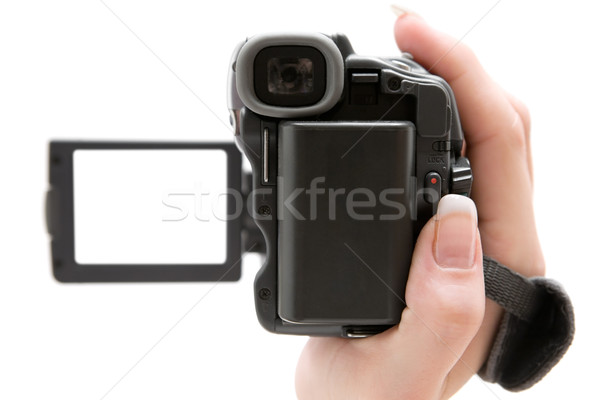 Holding a Camcorder Stock photo © winterling