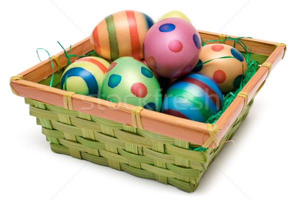 Several Easter Eggs in a Basket Stock photo © winterling
