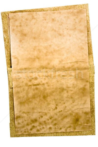Barwiony starej książki otwarte odizolowany biały Zdjęcia stock © winterling