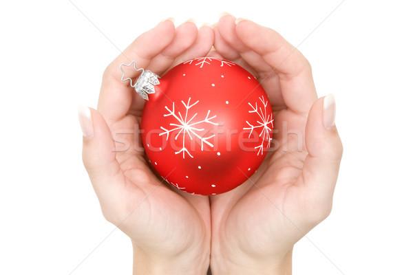 Sheltered Christmas Tree Ball Stock photo © winterling