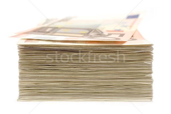 Notas 50 euro isolado Foto stock © winterling