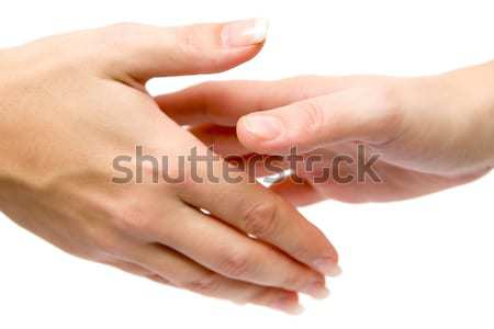 女性 握手 ハンドシェーク 孤立した 白 ビジネス ストックフォト © winterling
