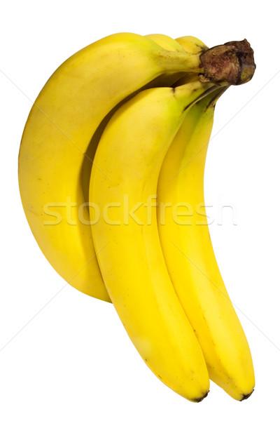Foto stock: Bananas · monte · branco · arquivo · fruto
