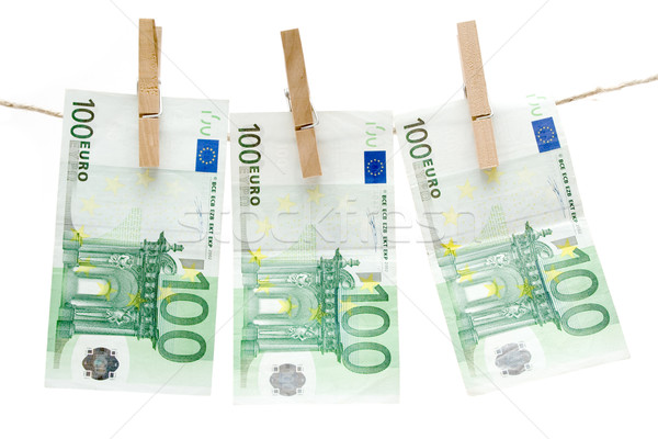 Drying One Hundred Euro Bills Stock photo © winterling