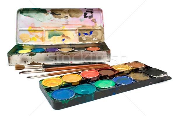 Watercolors Set Stock photo © winterling