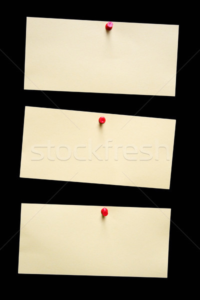 Three Yellow Notes with Clipping Path Stock photo © winterling