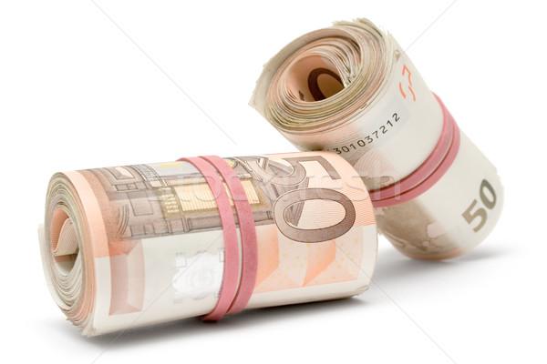 Dois euro 50 isolado Foto stock © winterling