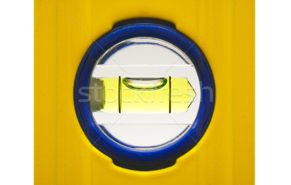 Bolha tubo amarelo trabalhar ferramenta isolado Foto stock © winterling