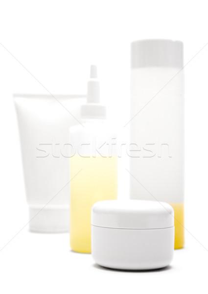 Сток-фото: косметики · различный · Трубы · бутылок · изолированный · белый