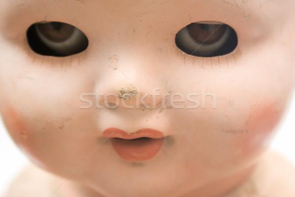 Weird pop gezicht gebruikt speelgoed staren Stockfoto © winterling