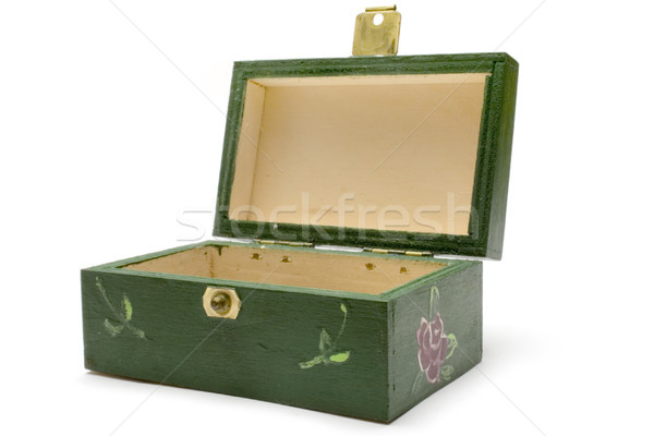 Small Wooden Chest Stock photo © winterling