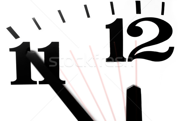 Stock photo: Five Minutes to Midnight