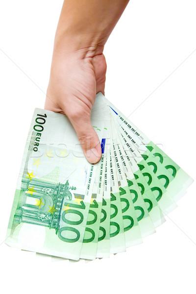 Presenting a Money Fan Stock photo © winterling