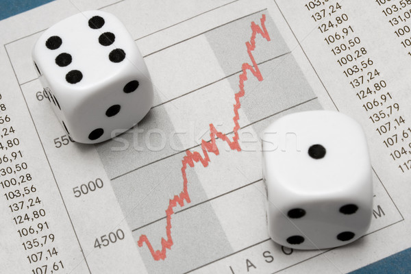 Dice on Chart Stock photo © winterling