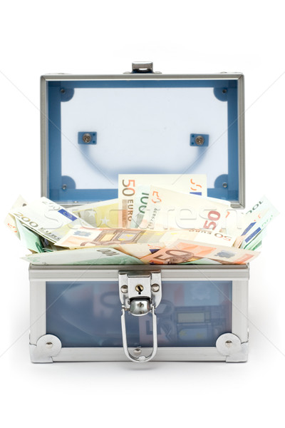Open Blue Money Chest Stock photo © winterling