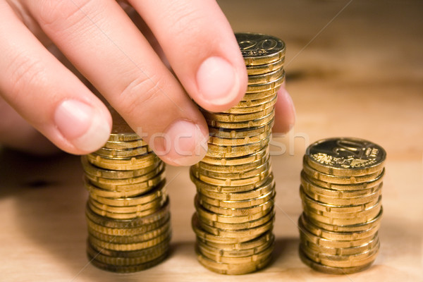 Stacking Up Coins Stock photo © winterling