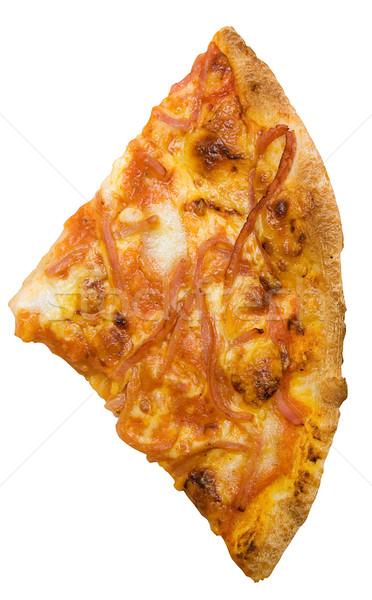 Fatia presunto pizza peça isolado Foto stock © winterling