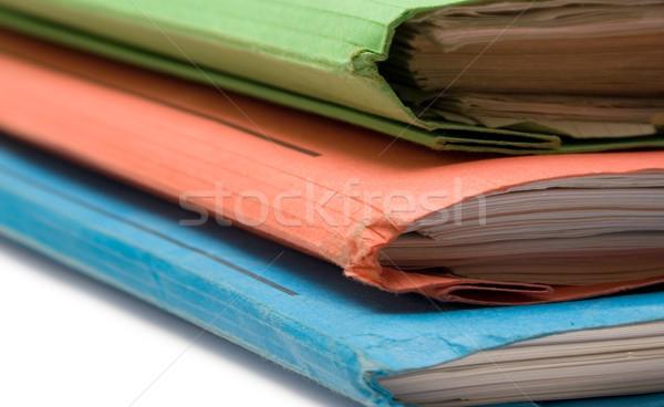 Drie kleurrijk vol documenten business Stockfoto © winterling
