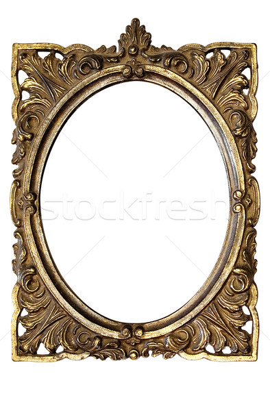 Ornamented Oval Picture Frame with Clipping Path Stock photo © winterling