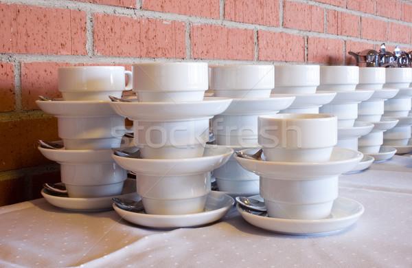 Xícaras de café vazio café parede Foto stock © winterling