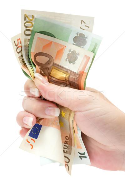 Euro notas monte isolado Foto stock © winterling