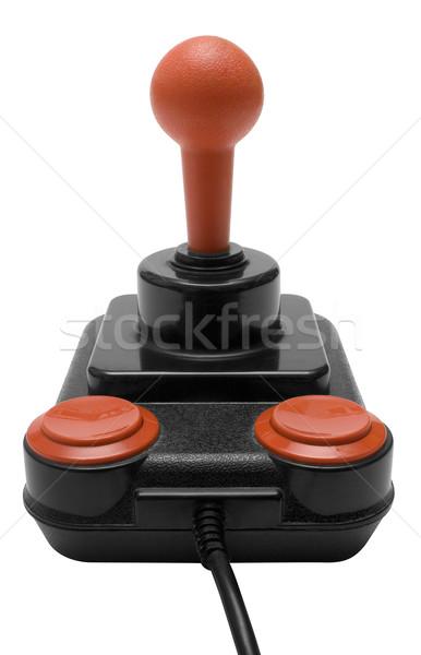 Clássico joystick retro isolado branco Foto stock © winterling