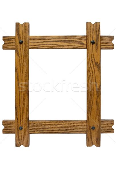 Rustykalny ramki obrazu odizolowany biały Zdjęcia stock © winterling