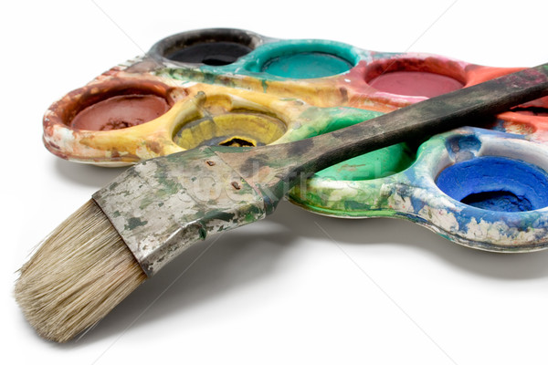 Set of Dirty Watercolors Stock photo © winterling