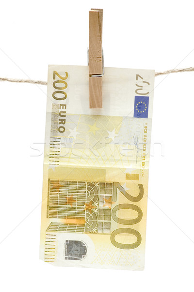Drying Two Hundred Euro Stock photo © winterling
