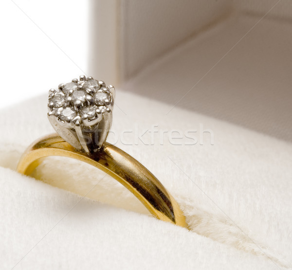 Stock photo: Diamond Ring in a Box