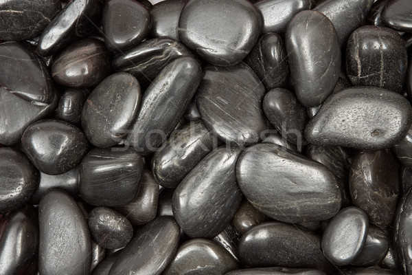 Black Pebbles Texture Stock photo © winterling