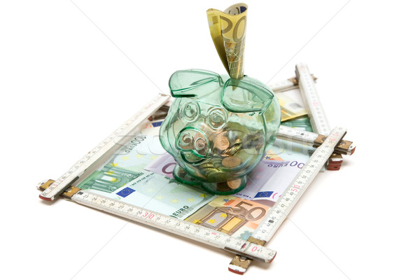 Besparing home euro geld gebouw huis Stockfoto © winterling
