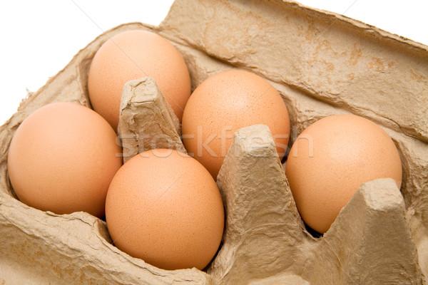 Brown Eggs Stock photo © winterling