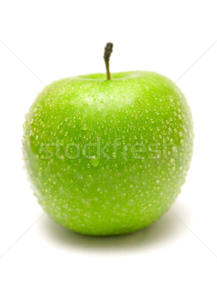 Green Apple with Raindrops Stock photo © winterling