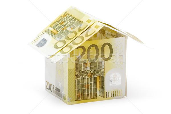 Twee honderd euro huisje klein huis Stockfoto © winterling