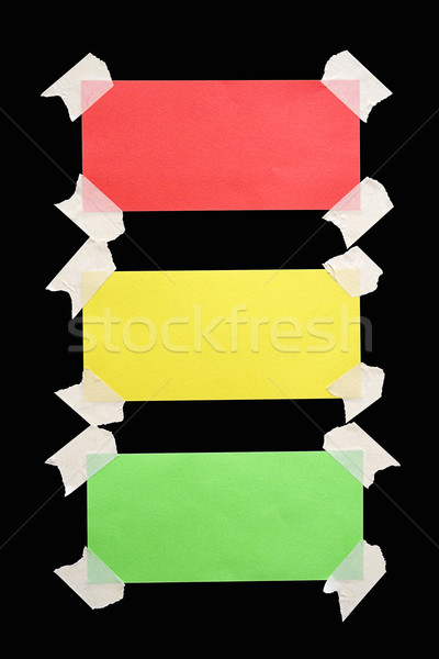 Taped Down Traffic Light Notes with Clipping Path Stock photo © winterling