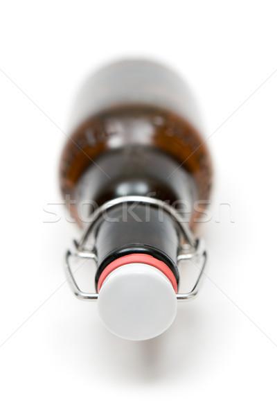 Garrafa cerveja branco raso vidro Foto stock © winterling