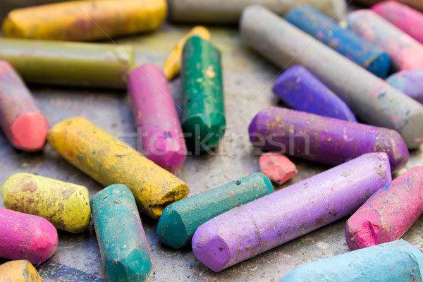 Battered Wax Crayons Stock photo © winterling
